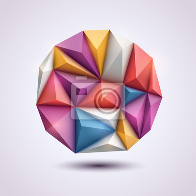 Abstrakcyjne tło w stylu origami