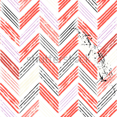Fototapeta abstrakcyjne tło, z pociągnięciami i rozpryskami, bez szwu zygzakowaty wzór
