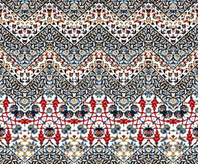Fototapeta abstrakcyjny iket zig zag wzór