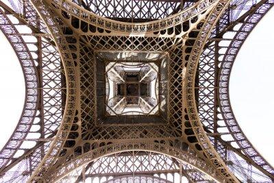 Fototapeta abstrakcyjny widok szczegółów Wieża Eiffla, Paryż, Francja