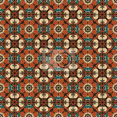 Fototapeta Abstrakcyjny wzór bez szwu. Arabesque style