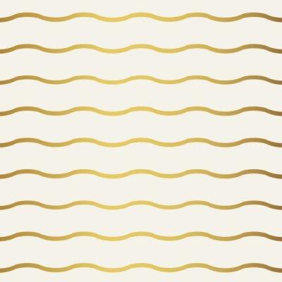 Fototapeta Abstrakcyjny wzór fal złota. Monochromatyczny białą tapetę.