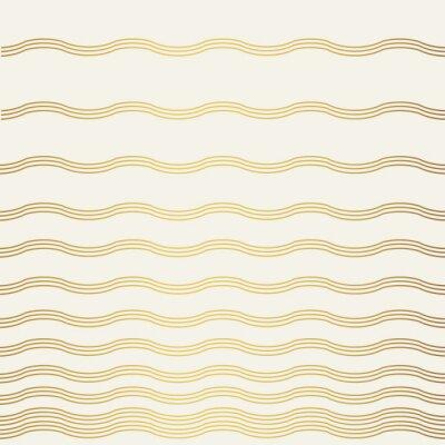 Fototapeta Abstrakcyjny wzór fal złota. Styl vintage tekstury.