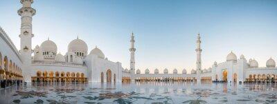 Fototapeta Abu Zabi, Zjednoczone Emiraty Arabskie, 04 stycznia 2018, Wielki Meczet Szejka Zayeda w Abu Zabi, Zjednoczone Emiraty Arabskie