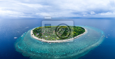 Fototapeta Aerial Drone Panorama Picture of Balicasag Island in Bohol in the Philippines