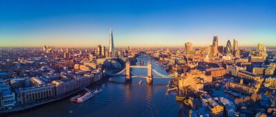 Fototapeta Aerial view of London i Tamizy