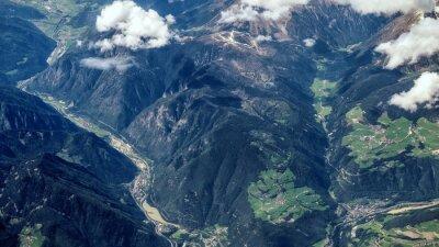 Fototapeta Aerial widok na Alpejskie góry