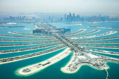 Fototapeta Aerial Widok Palm Island W Dubaju