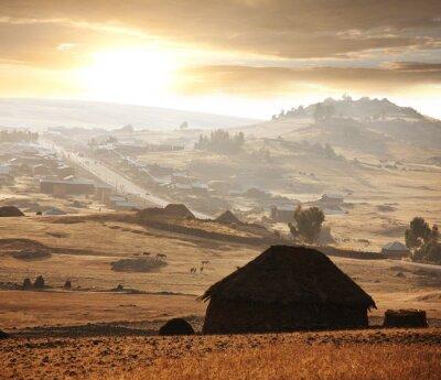 Fototapeta Afrykańska wioska