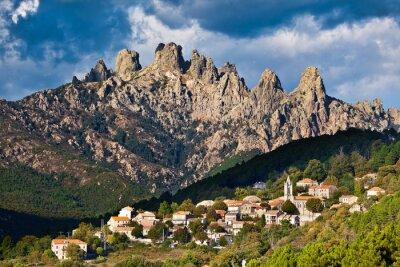 Fototapeta Aiguilles de Bavella, wieś de Zonza, Corse