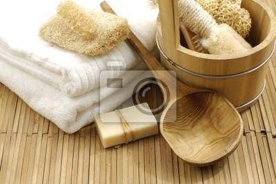 akcesoria do kąpieli na maty bambusowe