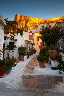 Fototapeta Akropol, jak widać z ulic Anafiotika, Ateny, Grecja