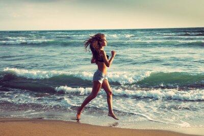 Fototapeta aktywna na plaży