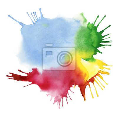akwarela abstrakcyjna kolor tła blot