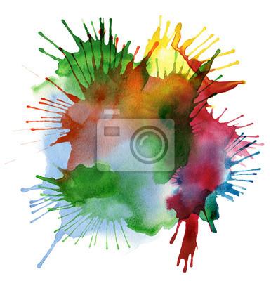 Fototapeta akwarela abstrakcyjna plama kolor tła