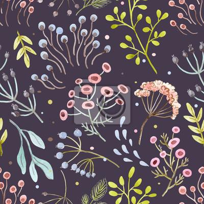 Fototapeta Akwarela abstrakcyjny wzór kwiatowy