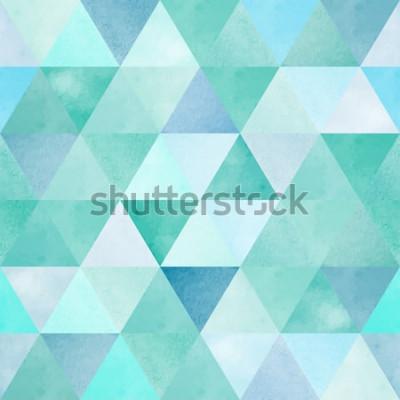 Fototapeta akwarela bezszwowe wzór z rocznika trójkąt geometryczny