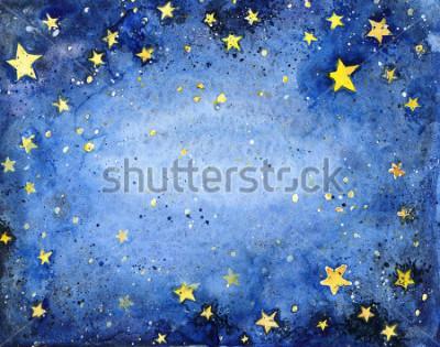 Fototapeta akwarela gwiaździste niebo