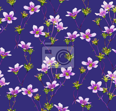 Akwarela kwiat bez szwu deseń
