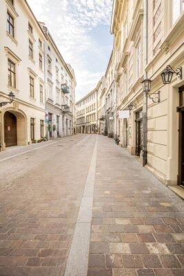 Fototapeta aleja - boczna ulica Europy Krakowie
