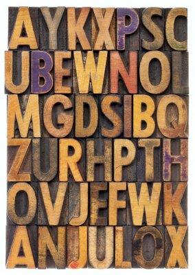 Fototapeta alfabet rodzaj drewna