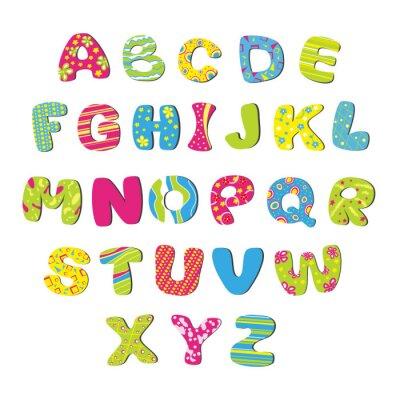 Fototapeta Alfabet Vector bright dzieci