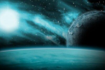 Fototapeta Alien Planet Sci-Fi sceny. Rendition artysty.