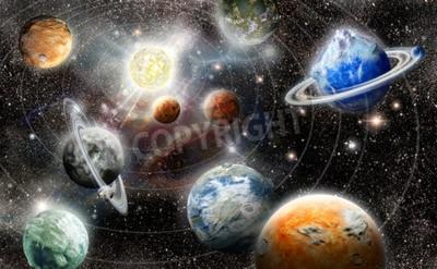Fototapeta Alien Planet w przestrzeni gwiazda System