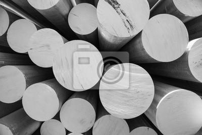 Fototapeta aluminiowy metal surowiec w postaci długich rur
