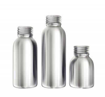 Fototapeta aluminium bottles