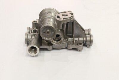 Fototapeta aluminium die casting product  with machining process