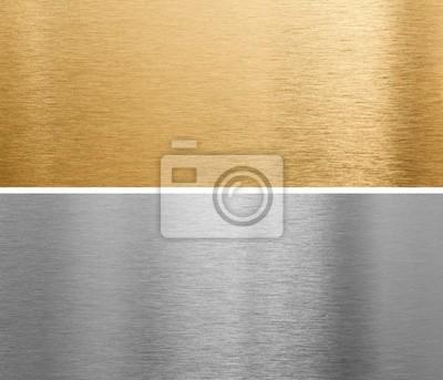 Fototapeta aluminium i mosiądzu blachy