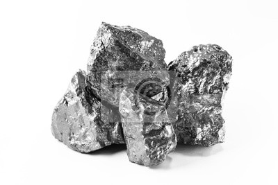 Fototapeta Aluminum nuggets, aluminum is a chemical element of the symbol Al and atomic number 13 with mass 27 u. At room temperature, it is solid, being the most abundant metallic element of the earth's crust.