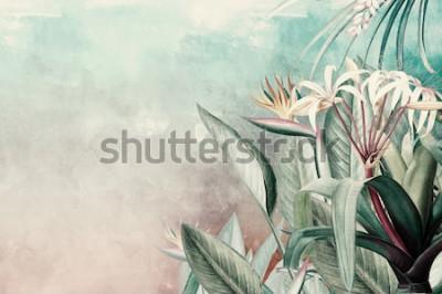 Fototapeta Amazon Green Tropical Leaves Wallpaper