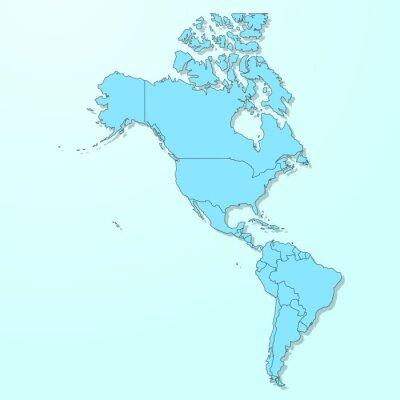 Fototapeta Ameryka mapy na niebieskim tle Wektor zdegradowanej