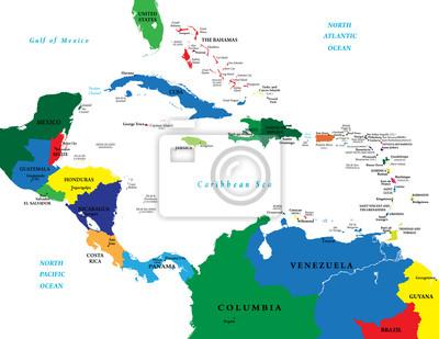 Fototapeta Ameryka Srodkowa Mapa Pixers Zyjemy By Zmieniac