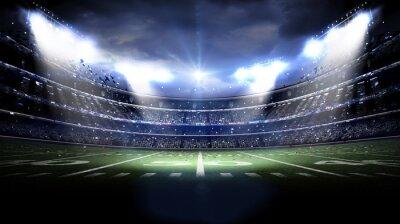 Fototapeta Amerykański stadion w nocy