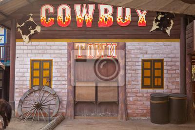 898b44d30 Fototapeta Amerykański styl miasteczko western na wymiar • złoto ...