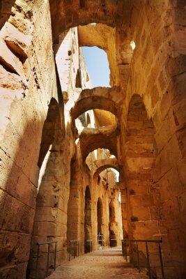 Fototapeta Amfiteatr w El Jem, Tunezja