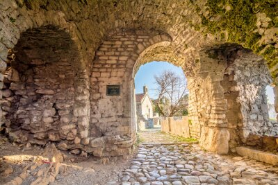 Fototapeta Ancient arches in the pathway to the old town of Bar, Montenegro