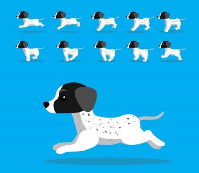 Fototapeta Animal Animation Sequence Dog Braque Cartoon Vector