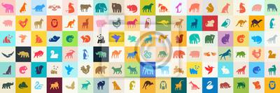 Fototapeta Animals logos collection. Animal logo set