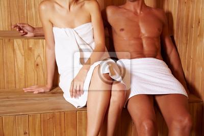 Anonymes Paar w saunie