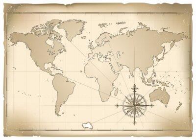 Fototapeta Antica mappa vettoriale
