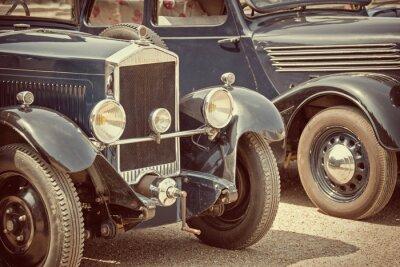 Fototapeta Antique cars, vintage process