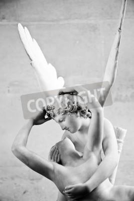 Fototapeta Antonio Canova w posąg Psyche reaktywowana przez pocałunek Kupidyna, pierwsze zlecenie w 1787 roku, jest przykładem neoklasycystycznym nabożeństwo do miłości i emocji