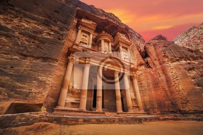 Fototapeta Antyczna świątynia w Petra, Jordania