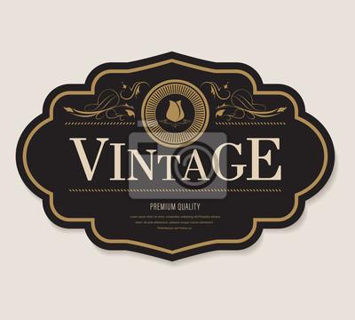 Fototapeta antyczne etykiety i obramowanie ramki w stylu retro vintage banner.