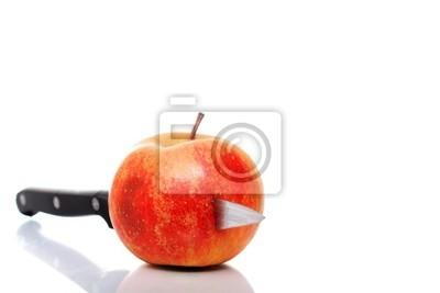 Apfel und Messer
