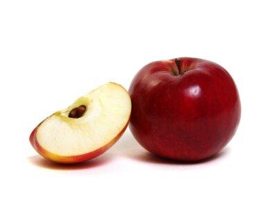 Apple z plasterkiem na białym tle